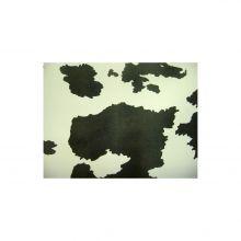 Tissus vache simili cuir blanc / noir